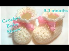 Crochet baby booties or baby shoes for 0-3 months baby fast and easy to do #104 - YouTube