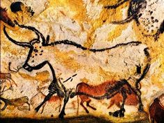 EXPRESSION: Lascaux is the most famous cave painting site. It was discovered in 1940 by four teenage boys on accident. Cave paintings are about years old Cave Paintings France, Lascaux Cave Paintings, Chauvet Cave, Stone Age Man, Art Pariétal, Paleolithic Art, Cave Drawings, Art Premier, Tribal Art
