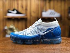 03f057ac1cf4 2018 Nike Air Vapormax Flyknit 2.0 Mens Sport Shoes White Blue 942842-104