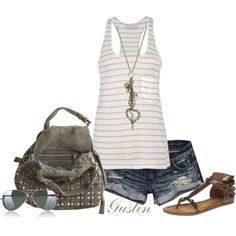 striped tank, created by stacy-gustin.polyvore.com