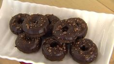 Heather Pace from Sweetly Dessert shows you how to assemble a raw, vegan, no-cook chocolate donuts dipped in delicious chocolate icing for a healthy dessert.