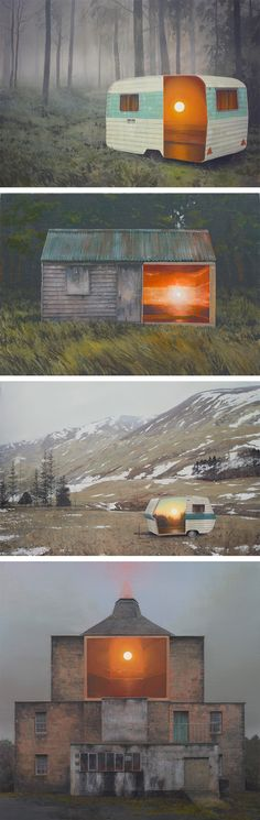 Radiant Sunsets and Landscapes Hidden Inside Forgotten Places by Andrew McIntosh
