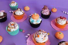 Cupcake alla zucca di Halloween