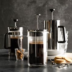 How to Use French Press Coffee Maker [Recipe & Video] Coffee Type, Coffee Is Life, Great Coffee, Williams Sonoma, Coffee To Water Ratio, Stainless Steel French Press, How To Order Coffee, French Press Coffee Maker, Coffee Staining
