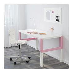 PÅHL Escritorio - blanco/rosa - IKEA