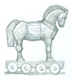 Trojan horse - pencil by jacktzekov on deviantART