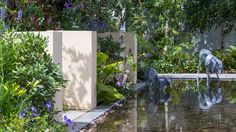 Explore the line-up of more than 30 exciting show gardens and features at the RHS Hampton Court Flower Show in 2018 Hampton Court Flower Show, Rhs Hampton Court, Outdoor Gardens, Indoor Outdoor, Dogs Trust, Garden S, Garden Ideas, Water Tank, Dog Life