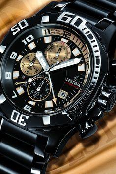 Festina Black-Bike – Chronograph » Der Stundenzeiger Good Cheap Watches, Watches For Men, Men's Watches, Junghans, Sell Gold, Man Photo, Chronograph, Clock, Bike