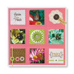 Garden Friends Rotary Blades #Scrapbook Layout Idea from Creative Memories    http://www.creativememories.com