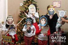 caretas de personajes del pesebre de navidad