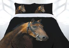 Be the knight of your dream and ride a war horse with this Dark Rider Quilt Cover Set by Just Home. It features a print design of a mighty horse in dark colours of black, grey, brown, chocolate, and blue. Horse Bedding, Horse Quilt, Dark Colors, Colours, Double Quilt, Online Shopping Australia, Single Quilt, Brown Horse, Quilt Cover Sets