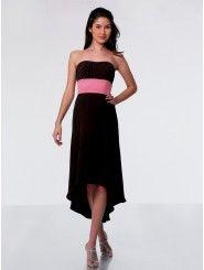 Chiffon and Satin Sweetheart Floor-Length A-line Bridesmaid Dress