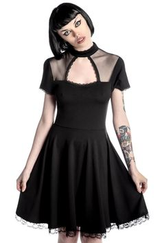 Draculana Skater Dress by KILLSTAR. Available online now!