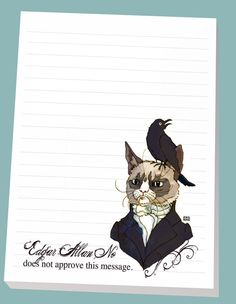 Edgar Allan No  Magnet Note Pad by JewelRenee on Etsy, $12.75