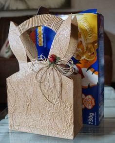 Seu LIXO...Meu LUXO!!!: Bolsa e porta-doces para a Páscoa