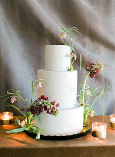 Laurie Arons 2016 Wedding Planner Masterclass Part II Wedding Cake Prices, Floral Wedding Cakes, Wedding Cake Rustic, Fall Wedding Cakes, Elegant Wedding Cakes, Floral Cake, Beautiful Wedding Cakes, Wedding Cake Designs, Wedding Cake Toppers