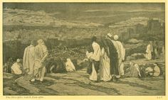 Phillip Medhurst presents 324/392 the James Tissot Jesus c 1896 The Disciples Having Left Their Hiding Place Watch from Afar in Agony. By (James) Jacques-Joseph Tissot, French, 1836-1902. After a...