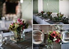 Lovely fynbos Protea Wedding, Beach Party, Floral Arrangements, Table Decorations, Flowers, Top, Ideas, Home Decor, Decoration Home