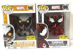 Funko Pop Store Exclusive Marvel Anti-Venom & Carnage Set of 2 Vinyl Bobble Head
