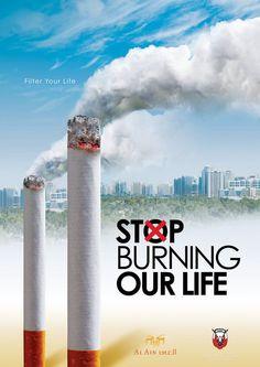 Campagne publicitaire anti-tabac, arrêter de fumer