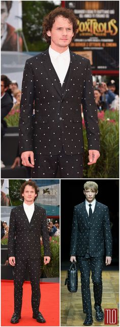 """Anton Yelchin in Dior Homme at the """"Cymbeline"""" Premiere"""