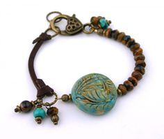 Bracelet made with rustic bead, using the Rustic Beads and Components Tutorial
