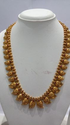 Gold Temple Jewellery, Gold Wedding Jewelry, Mango Mala Jewellery, Indian Gold Jewelry, Indian Gold Necklace, Kerala Jewellery, Gold Choker Necklace, Antique Necklace, Gold Necklace Simple