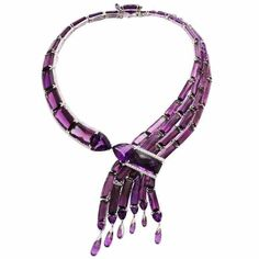 Amethyst Diamond Gold Waterfall Necklace ... by H.H. Prince John Landrum Bryant