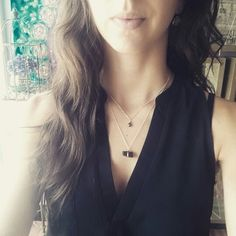 Black Tourmaline & Pyrite Layering Necklace by ATELIER Gaby Marcos