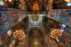 The Church of the Savior on Spilled Blood, interior: St. Petersburg, Russia.