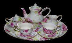 Pink Floral Miniature Tea Set Only $24.95 at Online Discount Mart