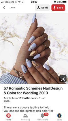 Perfect Nails, Nail Colors, Wedding Colors, Nail Designs, Romantic, Color Scheme Wedding, Mint Nails, Nail Design, Romance Movies