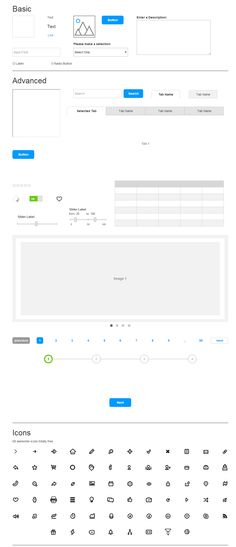 Axure widgets library | UX/IxD/UI Design | Pinterest | Template and ...