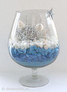 цветной песок с ракушками в вазе - Поиск в Google