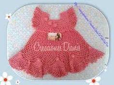 Resultado de imagem para vestido para bebe a crochet paso a paso