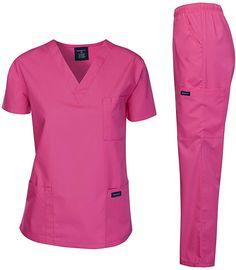Dagacci Scrubs Medical Uniform Women and Man Scrubs Set Medical Scrubs Top and Pants Cute Scrubs Uniform, Scrubs Outfit, Medical Uniforms, Work Uniforms, Scrub Jackets, Mode Abaya, Landau Scrubs, Medical Scrubs, Scrub Tops