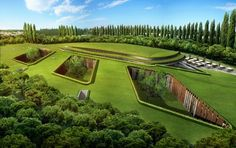 Green Roofed London Hotel is Buried Underground... This five star hotel is going under – underground that is! Designed by ReardonSmith Architects for a proposed development at Hersham Golf Club in Surrey, London, this new subterranean hotel will pay its ultimate respects to London's Green Belt by placing all 200+ guest rooms underneath it! The entire scheme is covered with a plush green roof that takes its cue from the surrounding countryside.