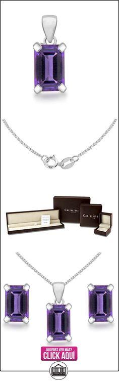 Carissima Gold Collar de mujer con oro blanco de 9 quilates (375/1000), amatista, 46 cm  ✿ Joyas para mujer - Las mejores ofertas ✿ ▬► Ver oferta: https://comprar.io/goto/B005UK491G