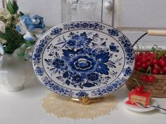 Blue Delft Flowers Dollhouse Porcelain by Twelvetimesmoreteeny, €4.50