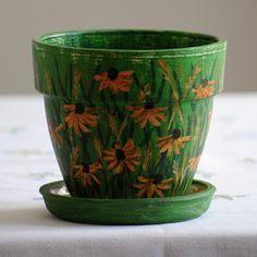 Maľované kvetináče :: Kvety a dekorácie