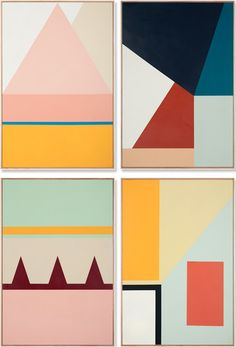 paintings by esther stewart. such great color and pattern http://decdesignecasa.blogspot.it/