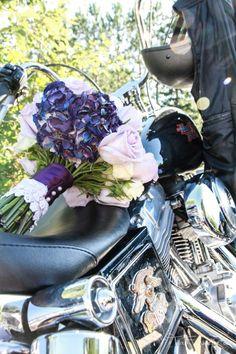 Wedding photos with the Harley