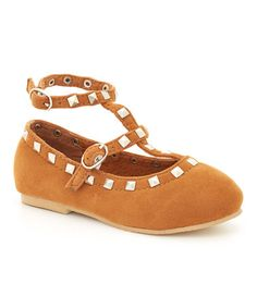 Look what I found on #zulily! Brown Studded Joan Suede Flat by China Doll #zulilyfinds