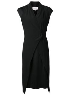 Shop Maison Martin Margiela layered wrap-style dress in Raionul 4 from the world's best independent boutiques at farfetch.com. Over 1000 designers from 60 boutiques in one website.