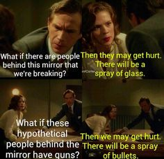 Agent Carter, stating the obvious with aplomb
