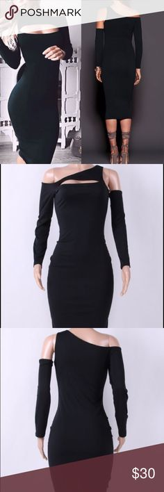 🚫SOLD OUT Black Long Sleeves Sexy Midi Bodycon Don't see your size? Let me know! Dresses Midi