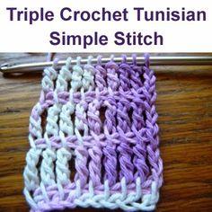 Crochet For Children: Triple Crochet Tunisian Simple Stitch