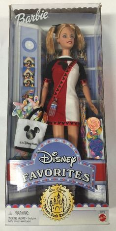 Barbie Doll 2000 Walt Disney Favorites Theme Park Exclusive New In Box New Barbie Dolls, Barbie 90s, Barbie Movies, Barbie And Ken, Dolls Dolls, Baby Dolls, Toys R S, Barbie Celebrity, Disney Characters Costumes