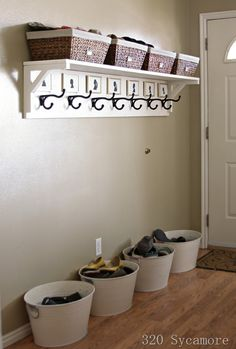 entryway organization[15] add bead board and a bench for a great mud room area