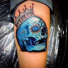 Sugar Skull Tattoos In 2020 100 Sugar Skull Tattoo Designs for Men Cool Calavera Ink Ideas Skull Sleeve Tattoos, Half Sleeve Tattoos Designs, Sugar Skull Tattoos, Tattoo Designs And Meanings, Best Tattoo Designs, Sugar Tattoo, Sugar Skulls, Cool Tattoos For Guys, Tattoos For Women Small